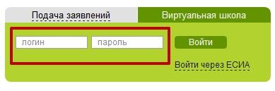 введите логин и пароль для входа в систему виртуальная школа
